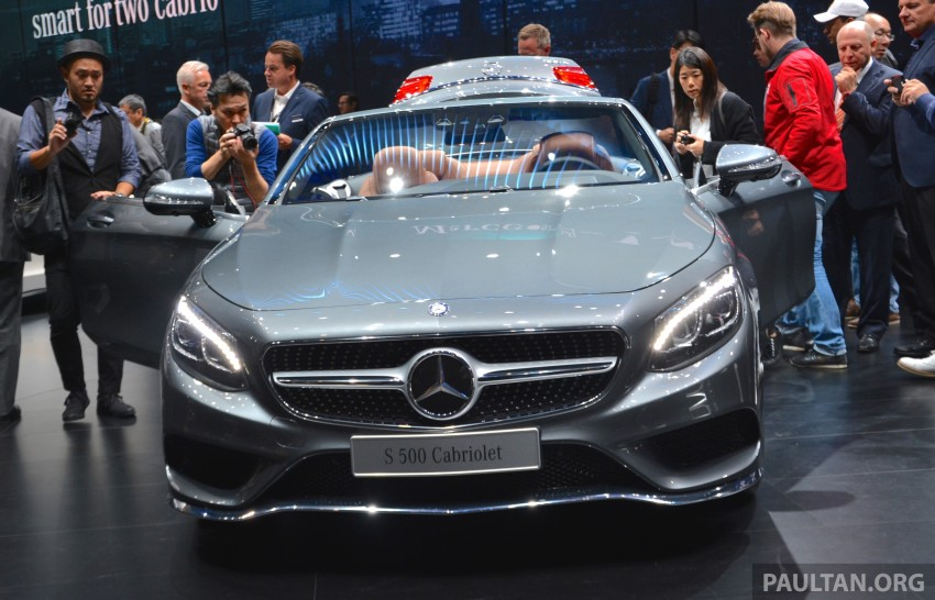GALLERY: A217 Mercedes-Benz S-Class Cabriolet – the S500 and AMG S63 4Matic debut in Frankfurt Image #380022