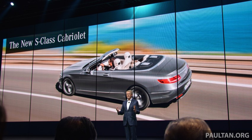 GALLERY: A217 Mercedes-Benz S-Class Cabriolet – the S500 and AMG S63 4Matic debut in Frankfurt Image #380026
