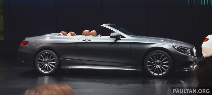 GALLERY: A217 Mercedes-Benz S-Class Cabriolet – the S500 and AMG S63 4Matic debut in Frankfurt Image #380005