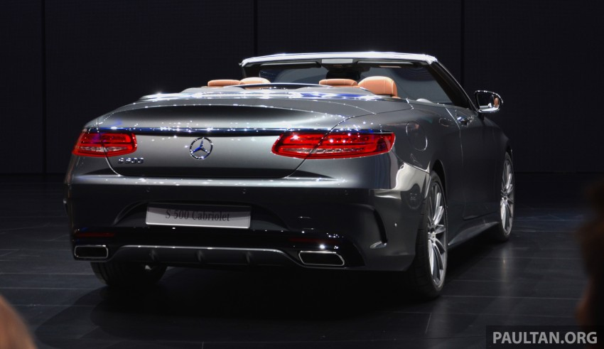 GALLERY: A217 Mercedes-Benz S-Class Cabriolet – the S500 and AMG S63 4Matic debut in Frankfurt Image #380006