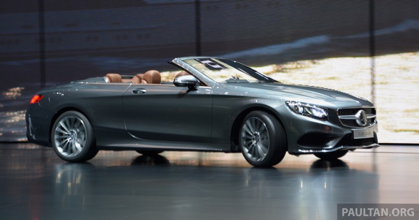GALLERY: A217 Mercedes-Benz S-Class Cabriolet – the S500 and AMG S63 4Matic debut in Frankfurt Image #380009