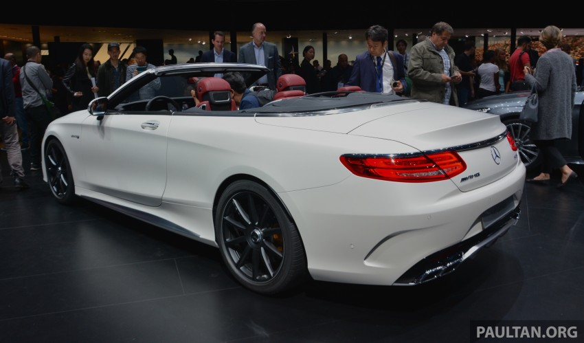 GALLERY: A217 Mercedes-Benz S-Class Cabriolet – the S500 and AMG S63 4Matic debut in Frankfurt Image #379982
