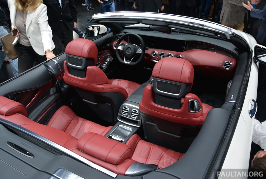 GALLERY: A217 Mercedes-Benz S-Class Cabriolet – the S500 and AMG S63 4Matic debut in Frankfurt Image #379983