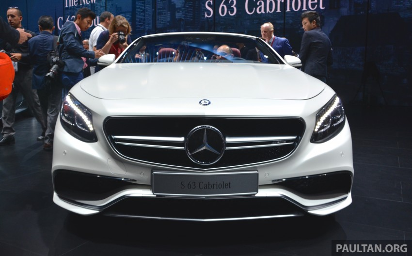GALLERY: A217 Mercedes-Benz S-Class Cabriolet – the S500 and AMG S63 4Matic debut in Frankfurt Image #379986