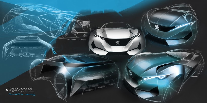 Peugeot Fractal – electric roadster concept unveiled Image #373793