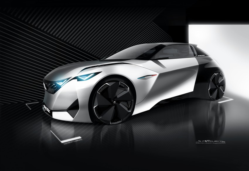 Peugeot Fractal – electric roadster concept unveiled Image #373795
