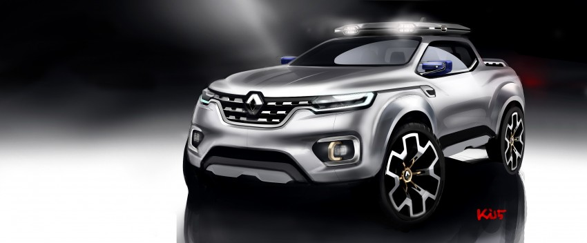 Renault Alaskan pick-up truck concept unveiled; Frankfurt debut – it's a French Nissan NP300 Navara! Image #375393