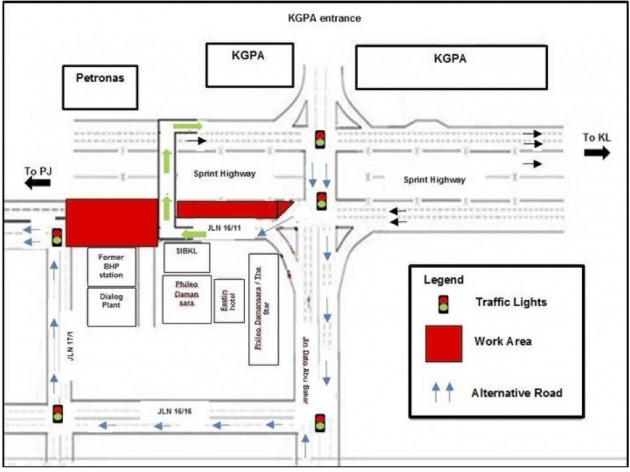 Road closure Phileo Damansara-01
