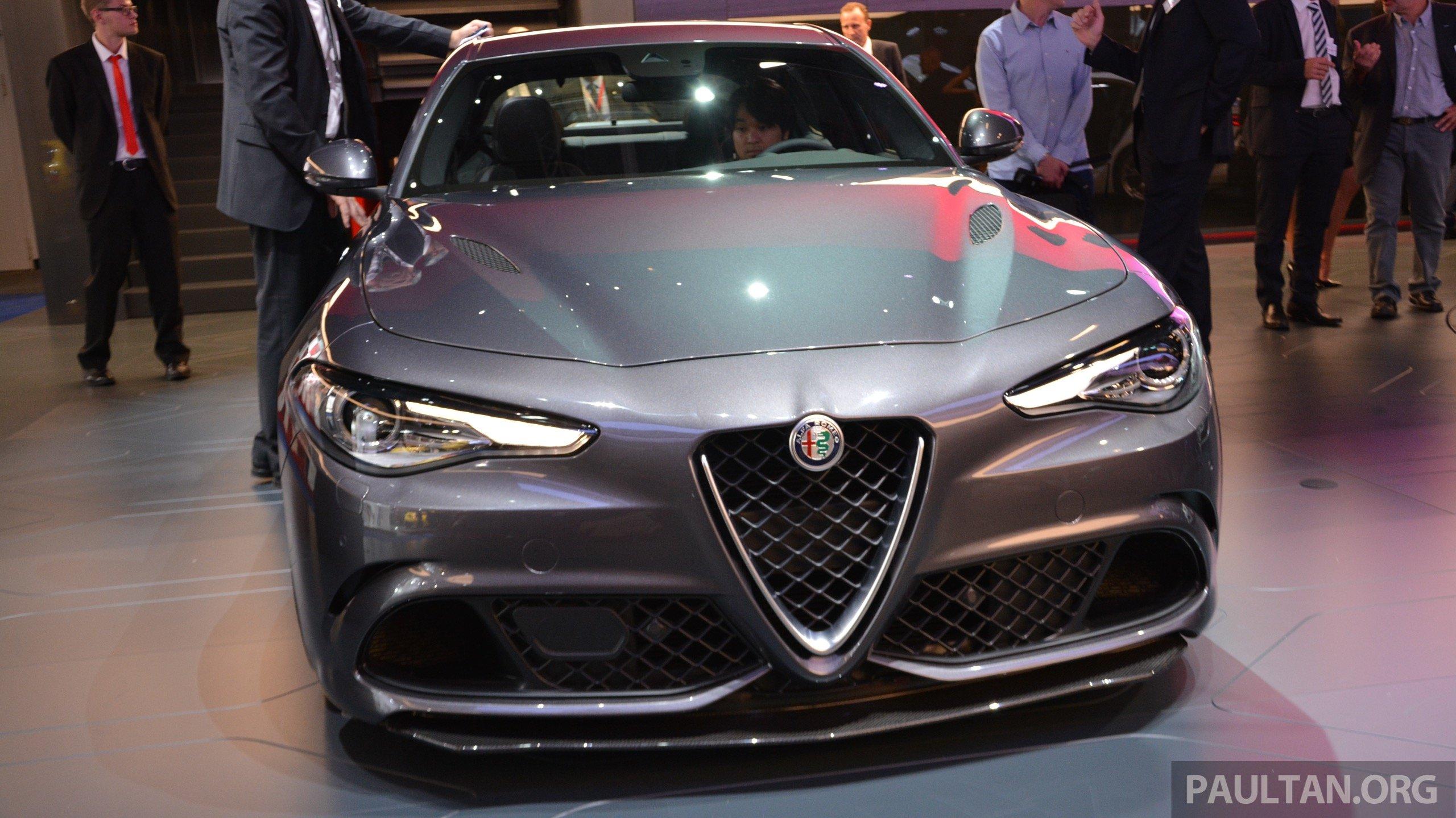 Frankfurt 2015: Alfa Romeo Giulia Quadrifoglio makes first public appearance – full look of the ...