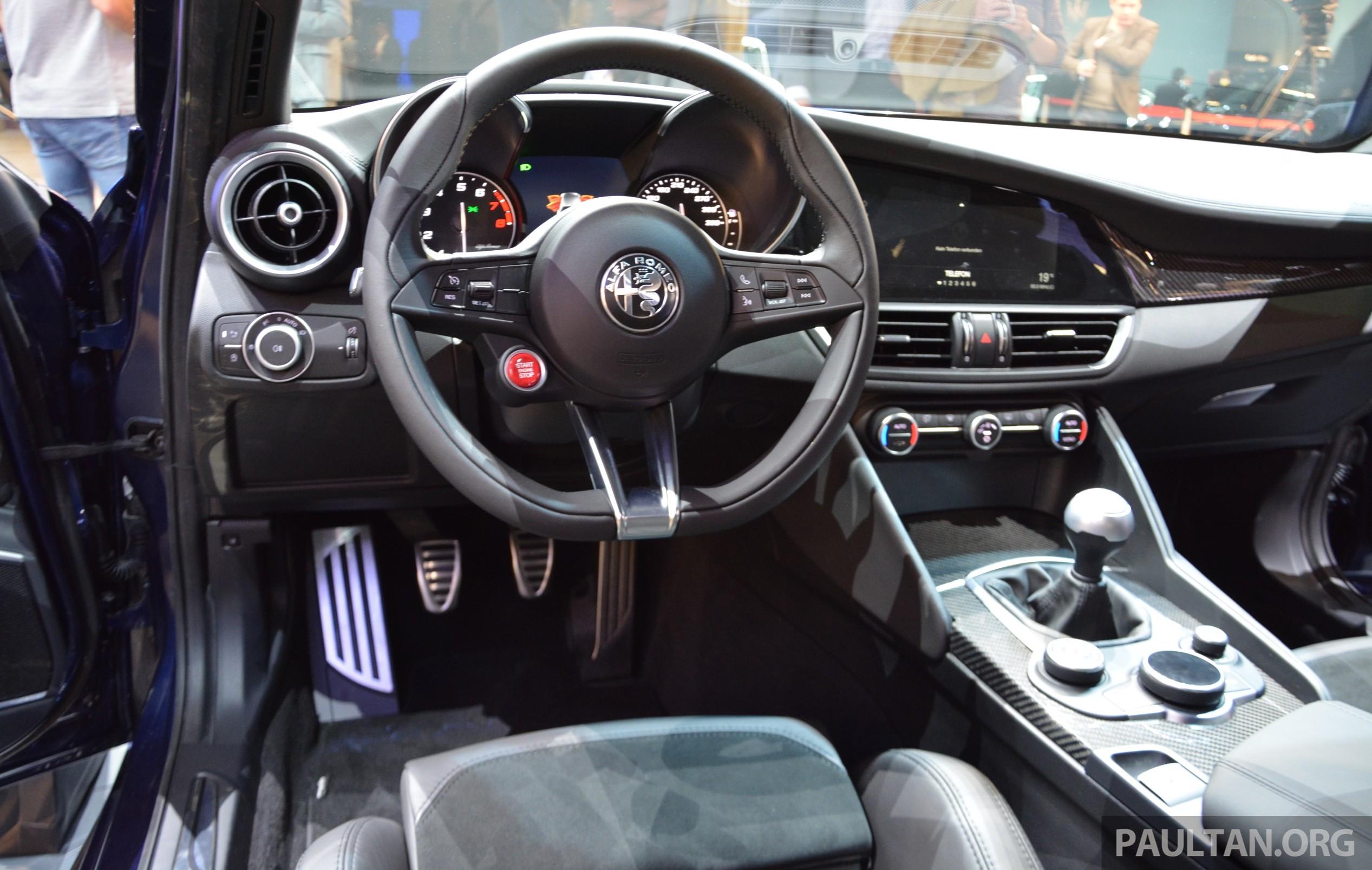 Frankfurt 2015 Alfa Romeo Giulia Quadrifoglio Makes First Public Appearance Full Look Of The