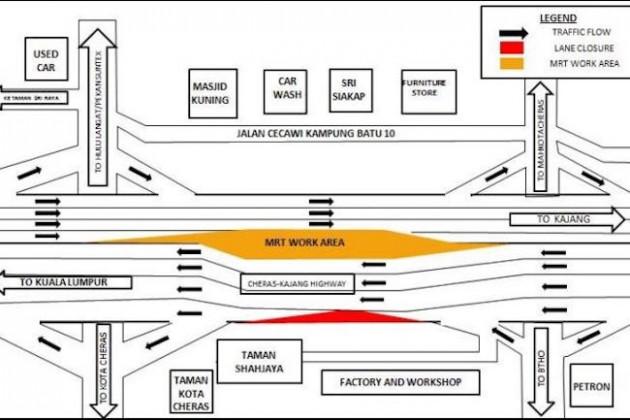 cheras-kajang-expressway-lane-closure-mrt-works