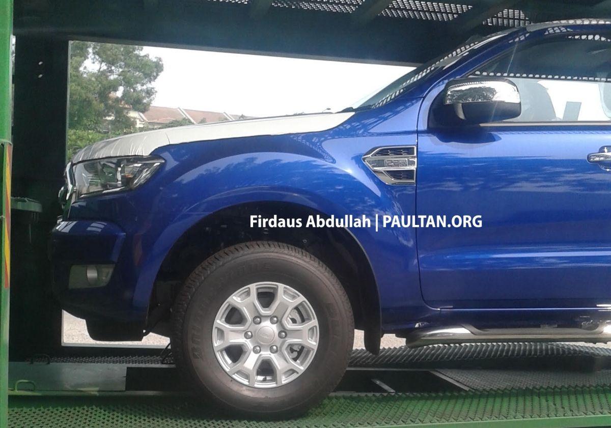 Ford ranger t6 facelift sighted leaving port klang