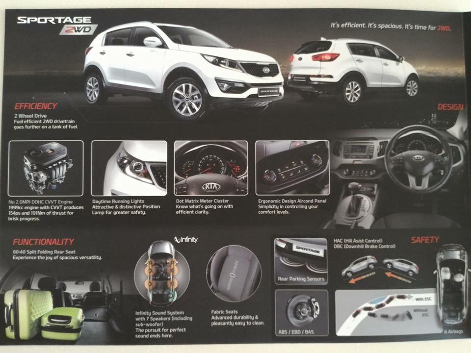 2015 Kia Sportage 2WD brochure leaked – RM119k Paul Tan ...