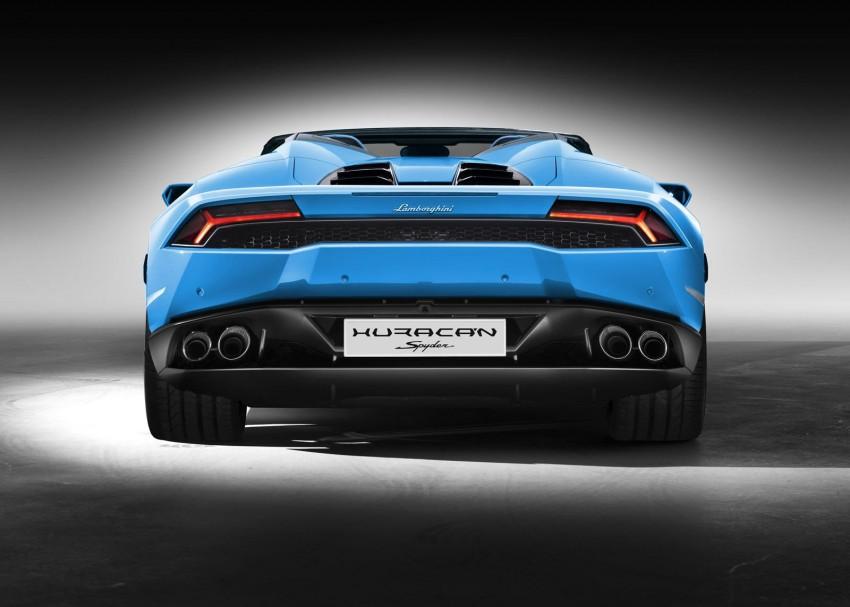 2017 Lamborghini Huracan LP610-4 Spyder premieres Image #379259