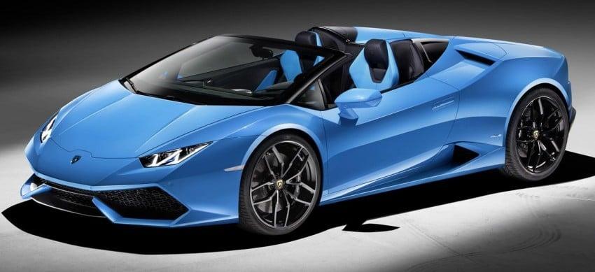 2017 Lamborghini Huracan LP610-4 Spyder premieres Image #379268