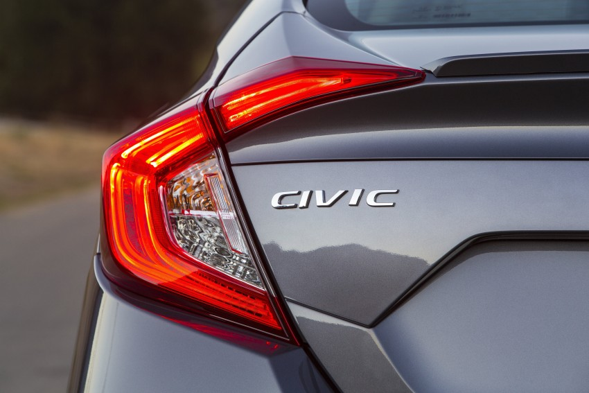2016 Honda Civic – full technical details on the 10th gen sedan, which benchmarks the 3 Series, C-Class Image #394000