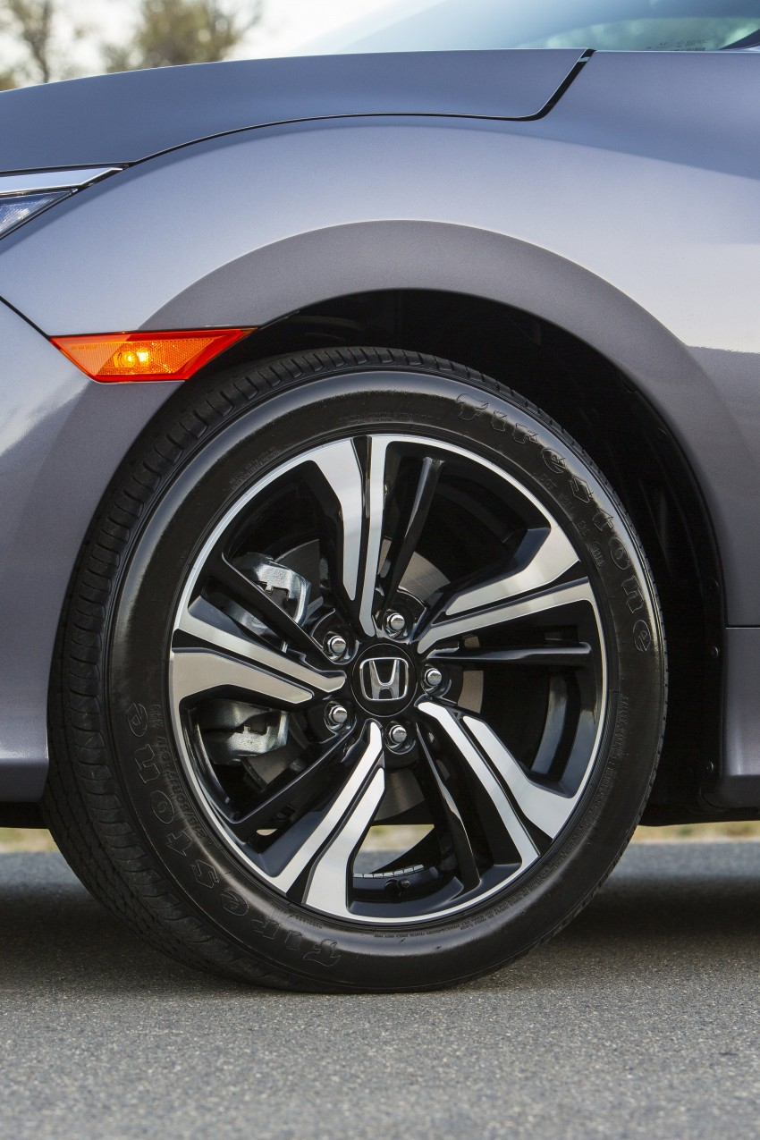 2016 Honda Civic – full technical details on the 10th gen sedan, which benchmarks the 3 Series, C-Class Image #394011