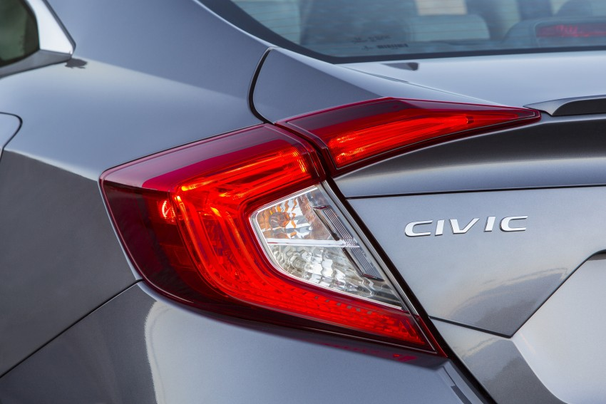 2016 Honda Civic – full technical details on the 10th gen sedan, which benchmarks the 3 Series, C-Class Image #394051