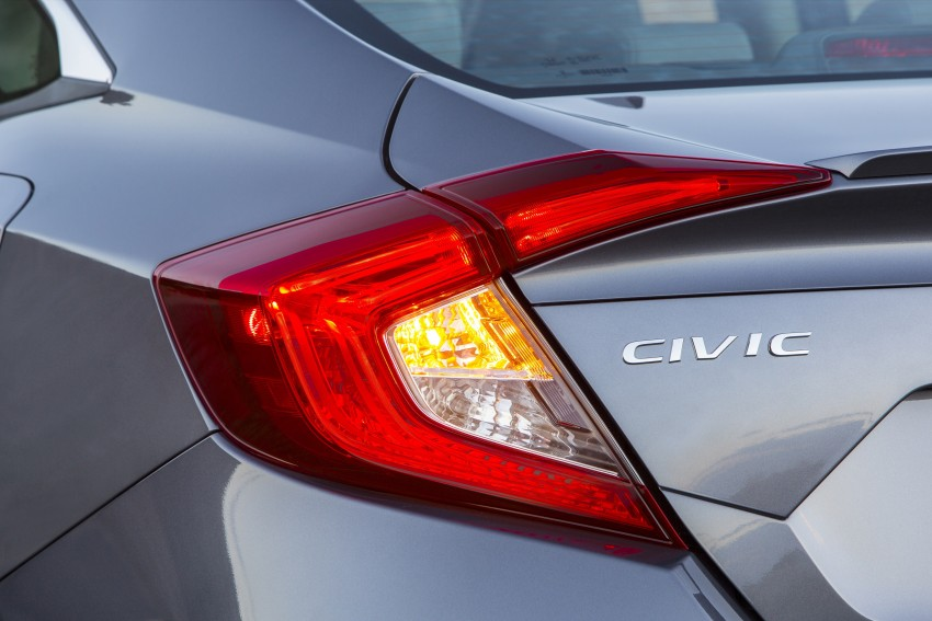 2016 Honda Civic – full technical details on the 10th gen sedan, which benchmarks the 3 Series, C-Class Image #394052