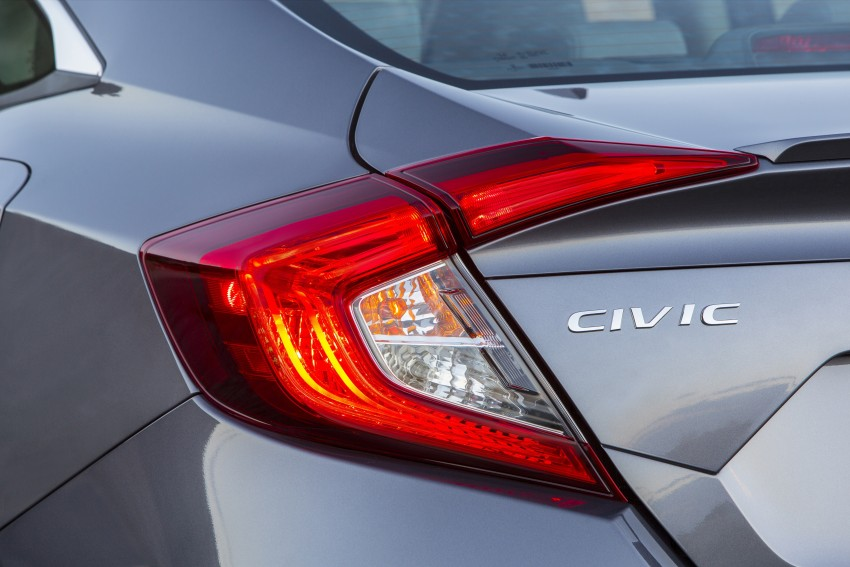 2016 Honda Civic – full technical details on the 10th gen sedan, which benchmarks the 3 Series, C-Class Image #394053