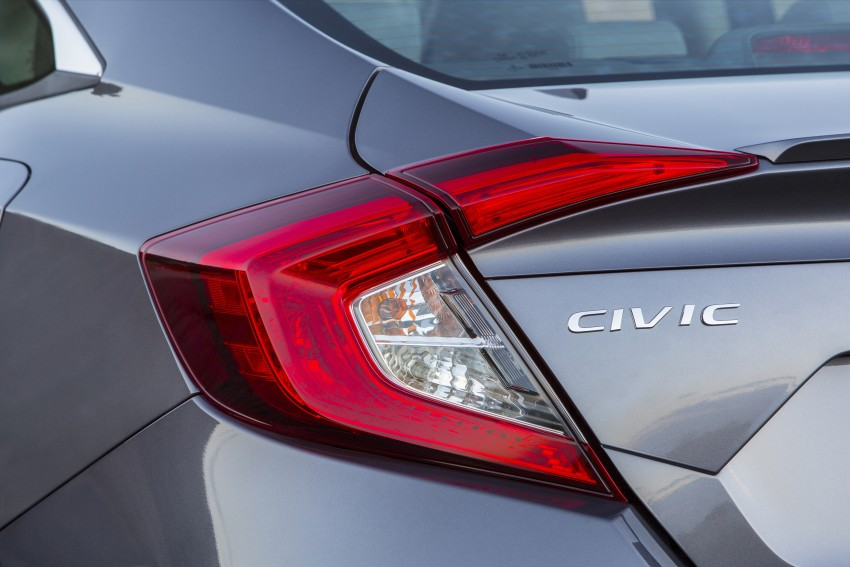 2016 Honda Civic – full technical details on the 10th gen sedan, which benchmarks the 3 Series, C-Class Image #394055