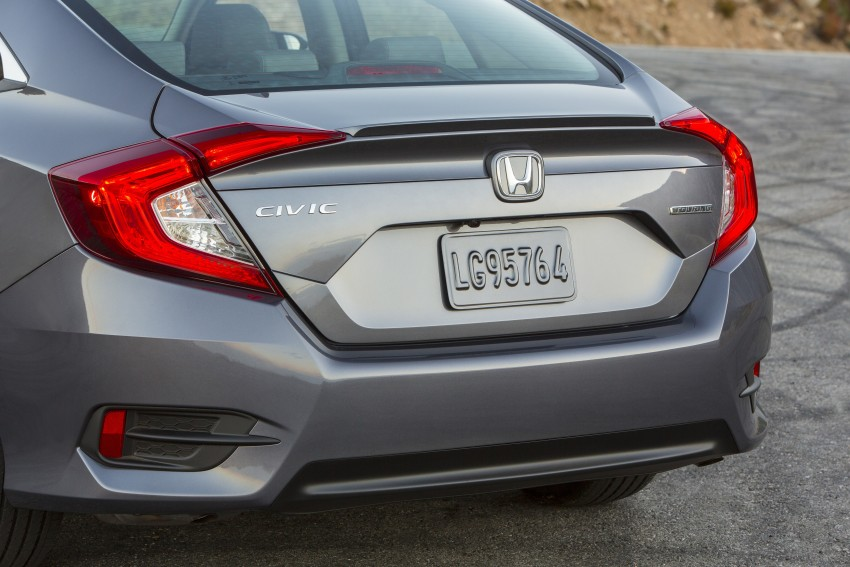 2016 Honda Civic – full technical details on the 10th gen sedan, which benchmarks the 3 Series, C-Class Image #394056