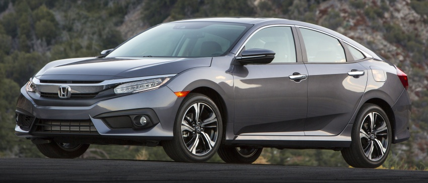 2016 Honda Civic – full technical details on the 10th gen sedan, which benchmarks the 3 Series, C-Class Image #394059