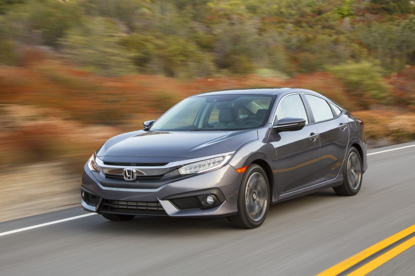 2016 Honda Civic – full technical details on the 10th gen sedan, which benchmarks the 3 Series, C-Class Image #394064
