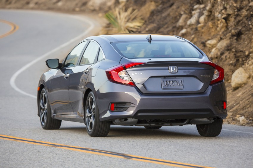 2016 Honda Civic – full technical details on the 10th gen sedan, which benchmarks the 3 Series, C-Class Image #394068
