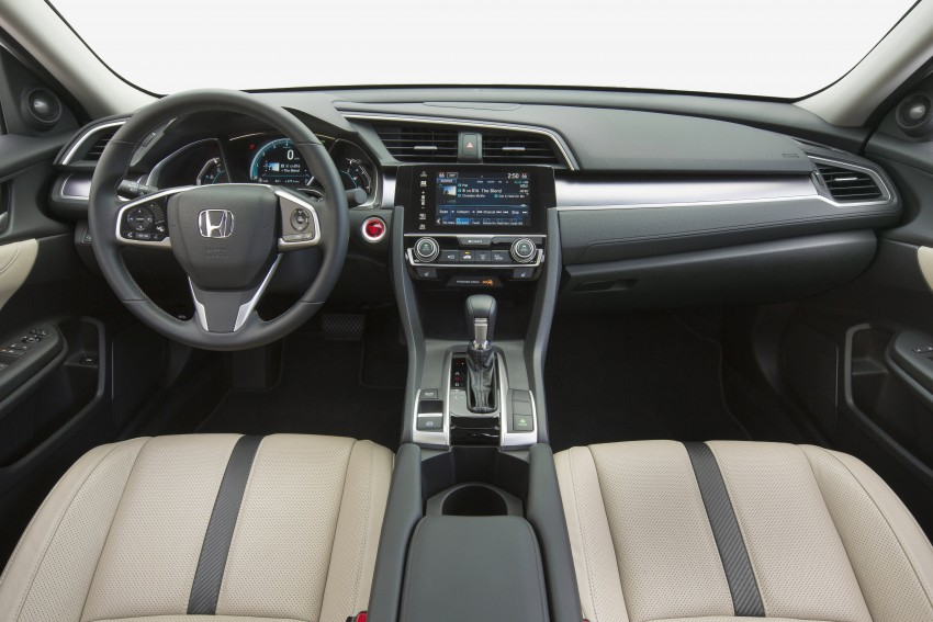 2016 Honda Civic – full technical details on the 10th gen sedan, which benchmarks the 3 Series, C-Class Image #394096
