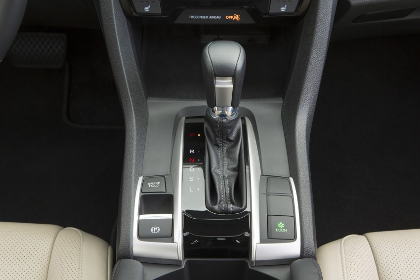 2016 Honda Civic – full technical details on the 10th gen sedan, which benchmarks the 3 Series, C-Class Image #394103