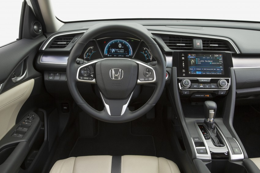 2016 Honda Civic – full technical details on the 10th gen sedan, which benchmarks the 3 Series, C-Class Image #394104