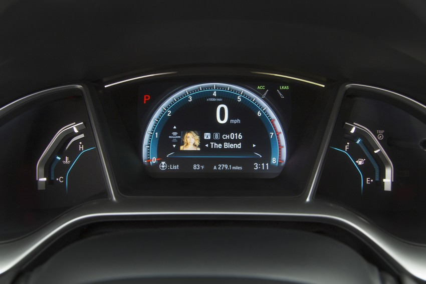 2016 Honda Civic – full technical details on the 10th gen sedan, which benchmarks the 3 Series, C-Class Image #394108