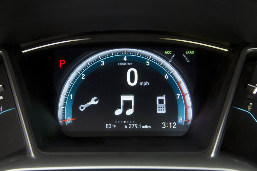 2016 Honda Civic – full technical details on the 10th gen sedan, which benchmarks the 3 Series, C-Class Image #394110