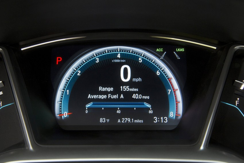 2016 Honda Civic – full technical details on the 10th gen sedan, which benchmarks the 3 Series, C-Class Image #394111