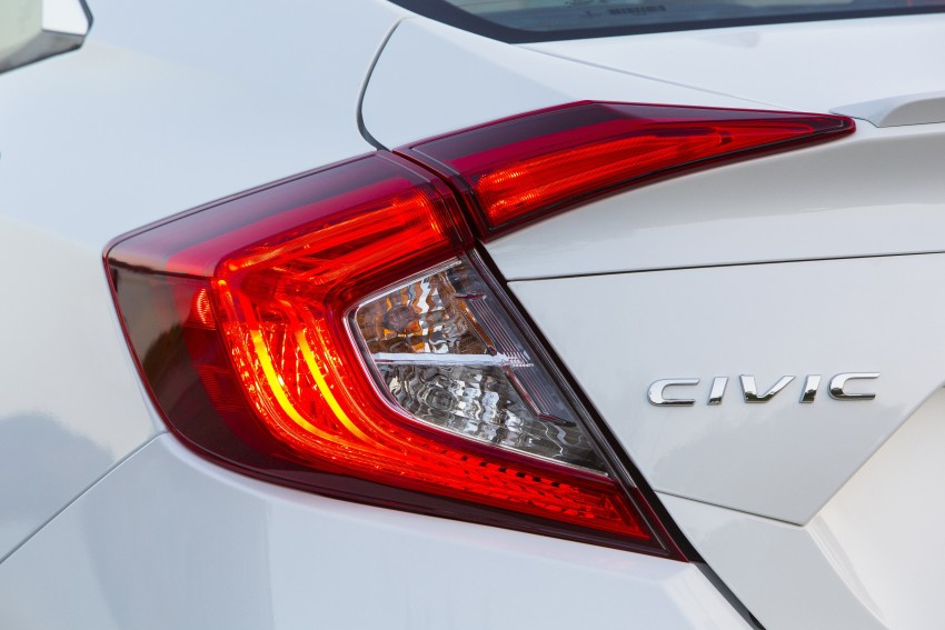 2016 Honda Civic – full technical details on the 10th gen sedan, which benchmarks the 3 Series, C-Class Image #394156