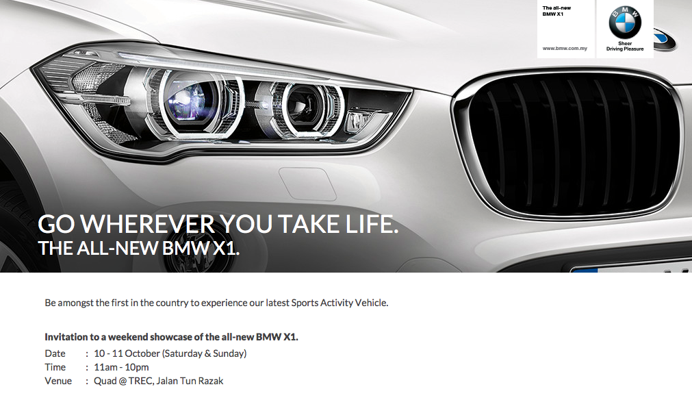 New Bmw X1 Teased Msia Debut Set For This Weekend
