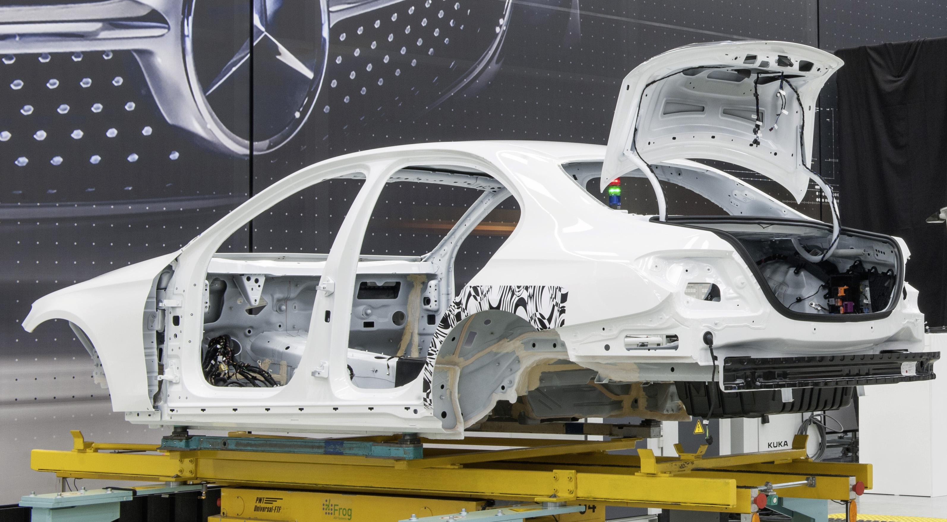 Mercedes Benz Shows Naked W213 E Class Body Paul Tan