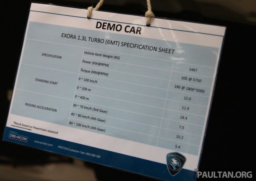 Proton Iriz and Exora 1.3 turbo, six-speed manual prototypes with 140 hp and 190 Nm previewed Image #387744