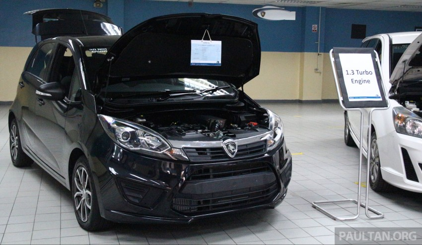 Proton Iriz and Exora 1.3 turbo, six-speed manual prototypes with 140 hp and 190 Nm previewed Image #387727
