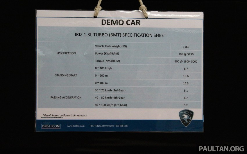 Proton Iriz and Exora 1.3 turbo, six-speed manual prototypes with 140 hp and 190 Nm previewed Image #387728