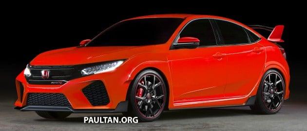 Honda Civic Type R 5-door hatchback rendered in red