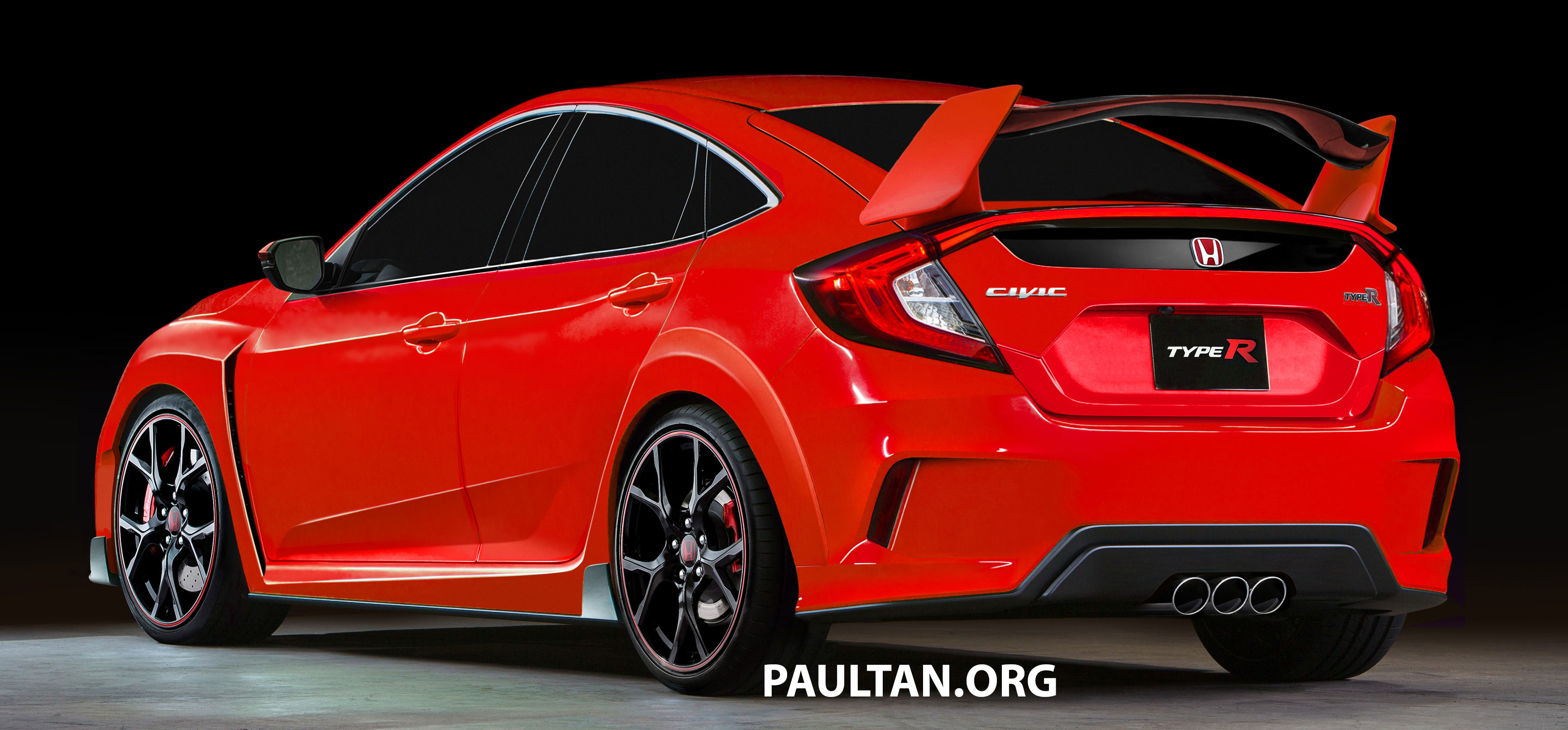 2017 Honda Civic Type R hot hatch rendered in red Image 400070