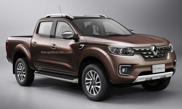 Renault Alaskan – production Navara-based pick-up rendered