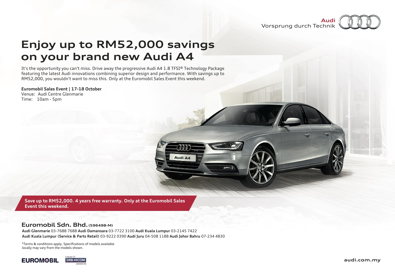 Ad Get Savings Of Up To Rm52 000 On A New Audi A4 And