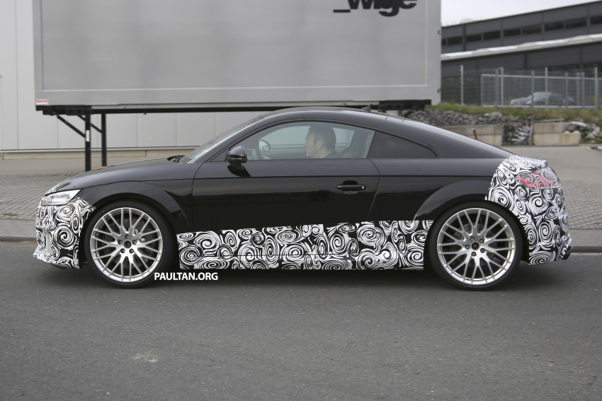 "SPYSHOTS: Audi TT RS gets ""Green Hell"" workout Image #391982"