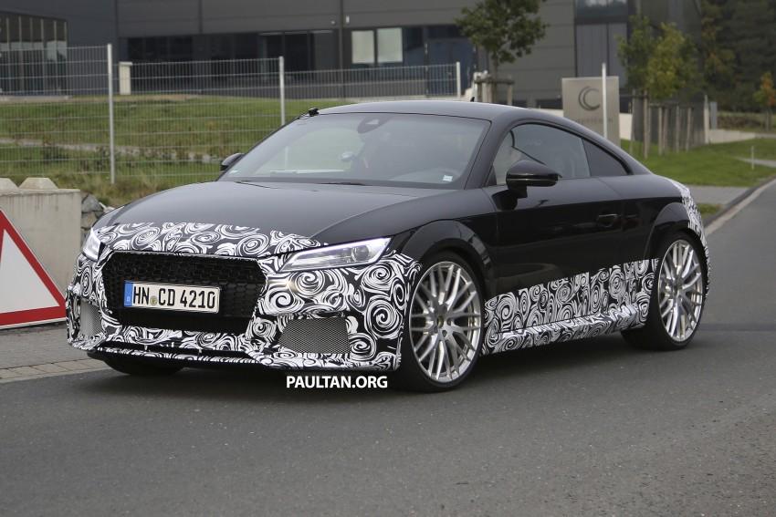 "SPYSHOTS: Audi TT RS gets ""Green Hell"" workout Image #391984"