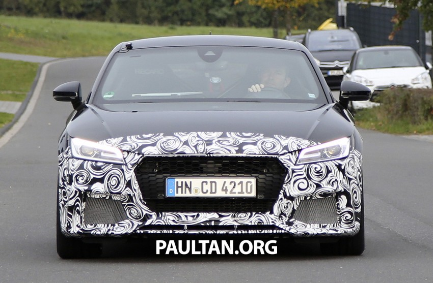 "SPYSHOTS: Audi TT RS gets ""Green Hell"" workout Image #391986"