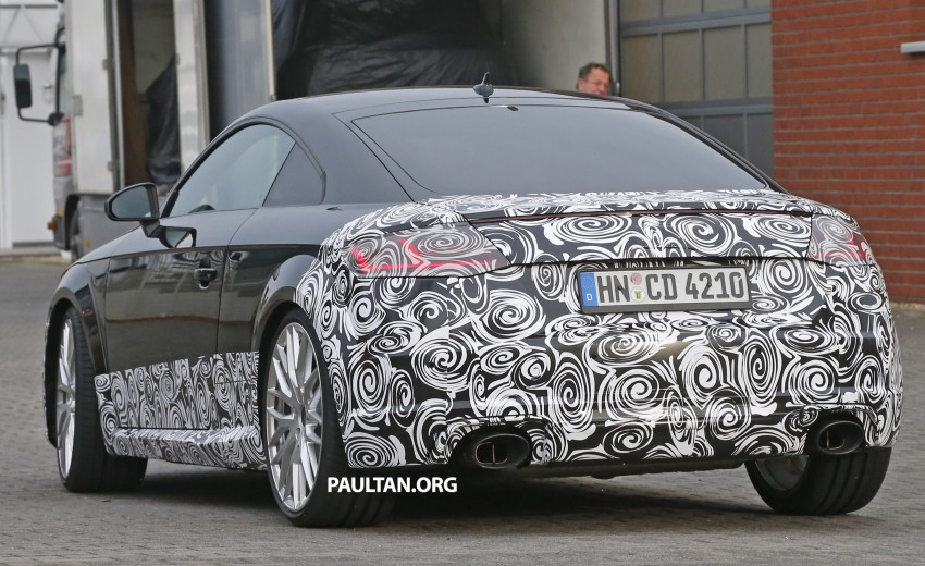 "SPYSHOTS: Audi TT RS gets ""Green Hell"" workout Image #391989"