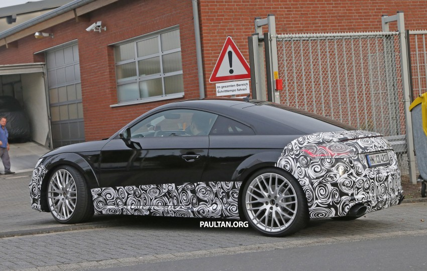 "SPYSHOTS: Audi TT RS gets ""Green Hell"" workout Image #391992"